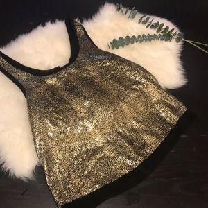 Do+ Be gold tank top size small